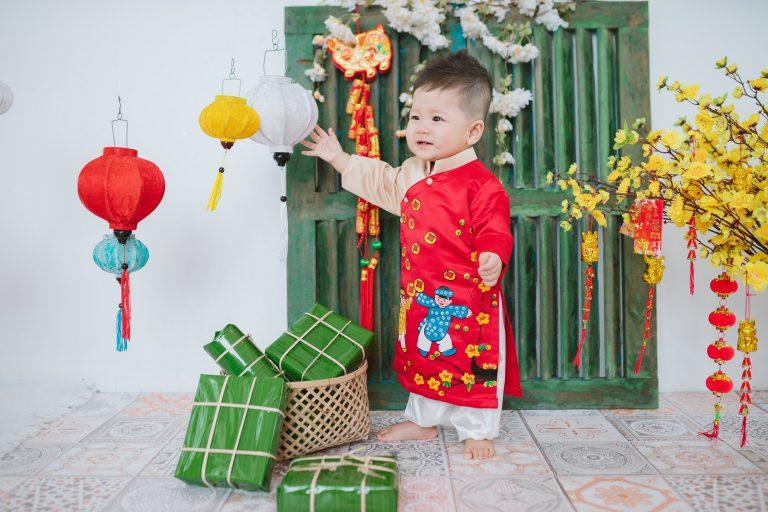 Chụp hình tết đẹp cho bé và gia đình Đà nẵng